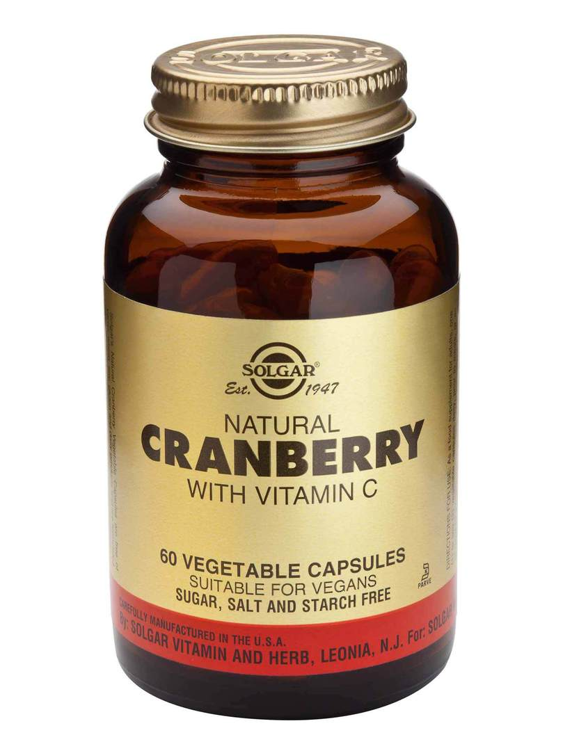 Solgar Cranberry Extract with Vitamin C (60 Capsules) image 0