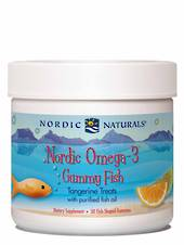Nordic Naturals Omega-3 Gummy Fish  (30 chewy tangerine fish for ages 2+)