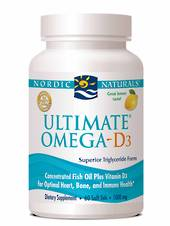 Nordic Naturals Ultimate Omega D3, Softgels