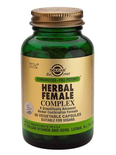 Solgar Herbal Female Complex (50 Vegetable Capsules)