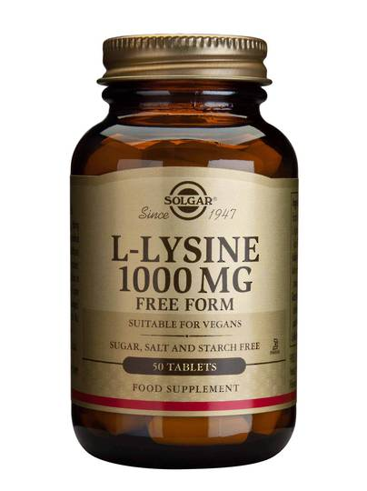 Solgar L-Lysine 1000mg (50 Tablets)