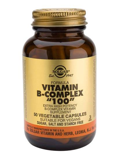 "Solgar Vitamin B Complex ""100"" , 100 Vegetable Capsules"