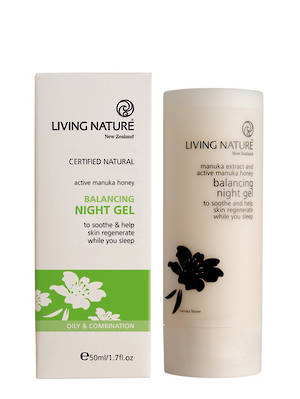 Living Nature Balancing Night Gel (oily/anti-acne), 50ml