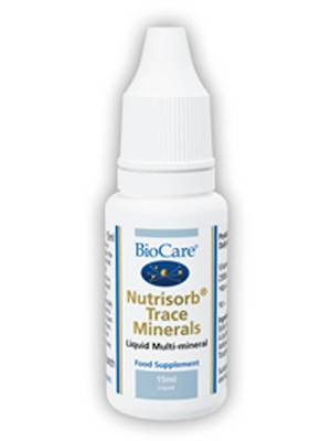 Biocare Nutrisorb Liquid Trace Minerals, 15ml (best before March 2020)