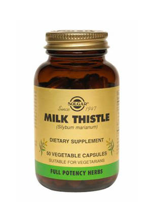 Solgar Milk Thistle, 50 Vegetable Capsules