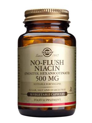 Solgar No Flush Niacin 500mg (50 Vegetable Capsules)