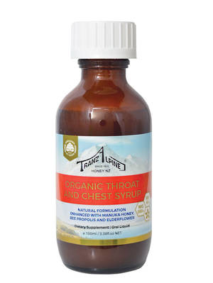 Tranzalpine Organic Manuka Honey Throat and Chest Syrup