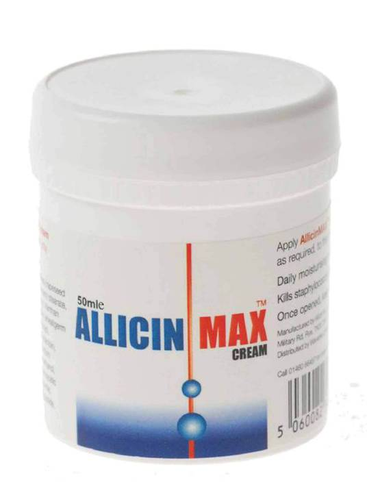 Allicin Intl, AllicinMax Cream - Antiseptic/Antifungal Cream, 50ml