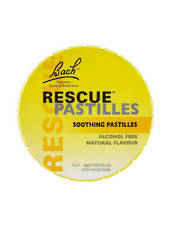 Bach Flower Remedies Rescue Remedy Pastilles, 50g tin (blackcurrant)