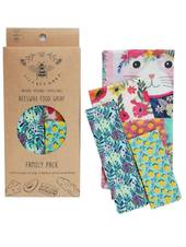 LilyBee Wrap Family Pack - set of 5 (Cat Nip Design)
