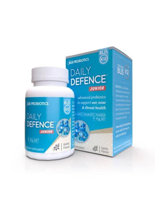Daily Defence Junior with BLIS K12™, 45g powder (strawberry or vanilla)