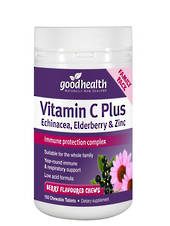Good Health Vitamin C Plus Echinacea, Elderberry and Zinc, 150 Chewable Tablets