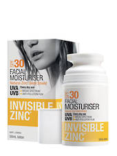 Invisible Zinc Facial Moisturiser SPF30+, 50ml