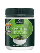 Lifestream Organic Spirulina Boost 500mg, Tablets