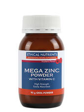 Ethical Nutrients Mega Zinc Powder (raspberry) 95g