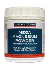 Ethical Nutrients Mega Magnesium, 200g Powder, citrus or raspberry