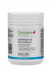 Clinicians MultiVitamin & Mineral Boost, 150g  Powder