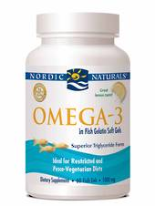 Nordic Naturals Omega-3 in fish gelatin (60 soft gels)