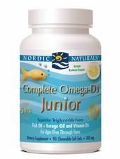 Nordic Naturals Complete Omega D3 Junior (90 soft gels lemon for ages 5+)
