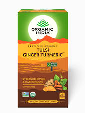 Organic India Tulsi Turmeric Ginger Tea bags (25)