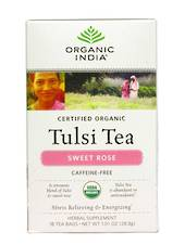 Organic India Tulsi Sweet Rose Tea Bags, 25 bags