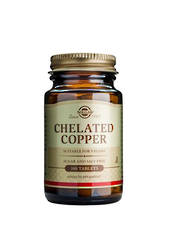 Solgar Chelated Copper, 100 tablets