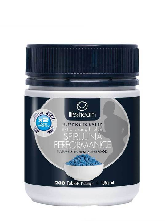 Lifestream Extra Strength Blue Spirulina Performance, 200 Tablets (best before end 04/19)