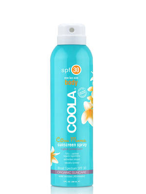 Coola Eco-Lux Body Sunscreen Spray, SPF 50, Unscented and Guava Mango