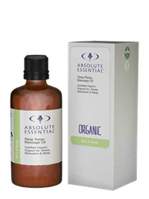 Absolute Essential Organic Deep Relax Massage Oil, 100ml