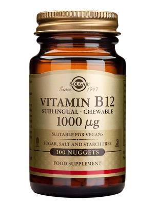 Solgar Vitamin B12, sublingual chewable (100 Nuggets)
