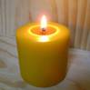 Bees Wax Pillar Candle Wide